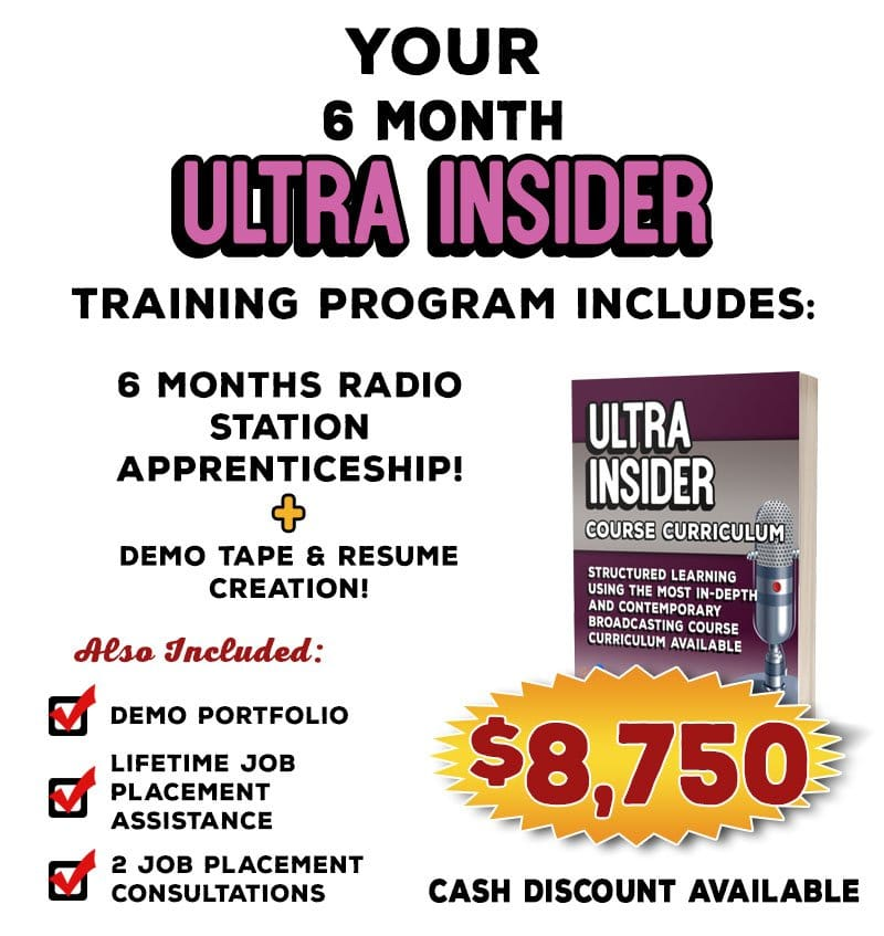 Info Graphic - Broadcasting Course Curriculum - 6 month radio training.
