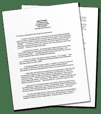Alan Fanger BMG Testimonial Letter
